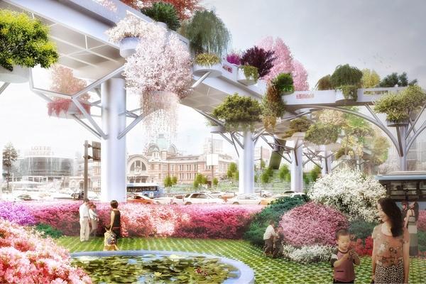 Фото 1 Как выглядит «Небесный парк» в Сеуле