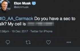 Илон Маск случайно опубликовал в Twitter номер своего телефона