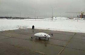 Видео: прототип аэротакси упал в сугроб во время тестирования в «Сколково»