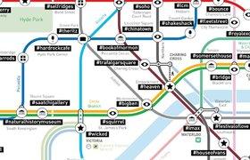 Карты метро крупных городов дополнили популярными хэштегами — и вот что из этого вышло
