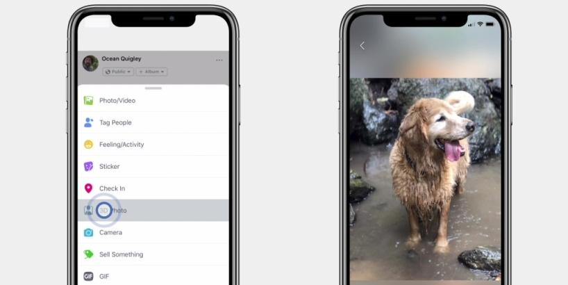Facebook предложил владельцам iPhone публиковать 3D-фотографии