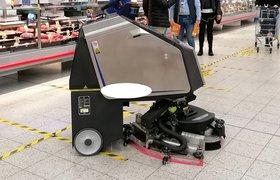 Китайские роботы-уборщики начали обслуживать торговые залы «Ленты»