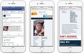 Facebook будет показывать в ленте новостей сообщения о пропавших детях AMBER Alert