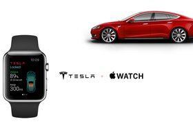 Украинский разработчик сделал приложение для управления Tesla на Apple Watch