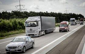 В Британии грузовики соединят по Wi-Fi, чтобы ими управлял только один водитель