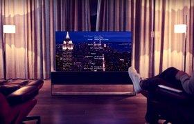 LG запустит продажу телевизоров со сворачивающимся в рулон экраном