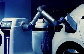 Volkswagen показал прототип робота для зарядки электромобилей