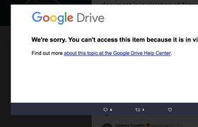 Пользователи массово пожаловались на блокировку документов в Google Docs