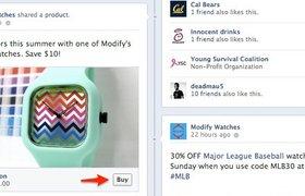 Facebook тестирует кнопку «Купить товар»