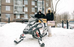 Сервис Grow Food доставит еду на снегоходах