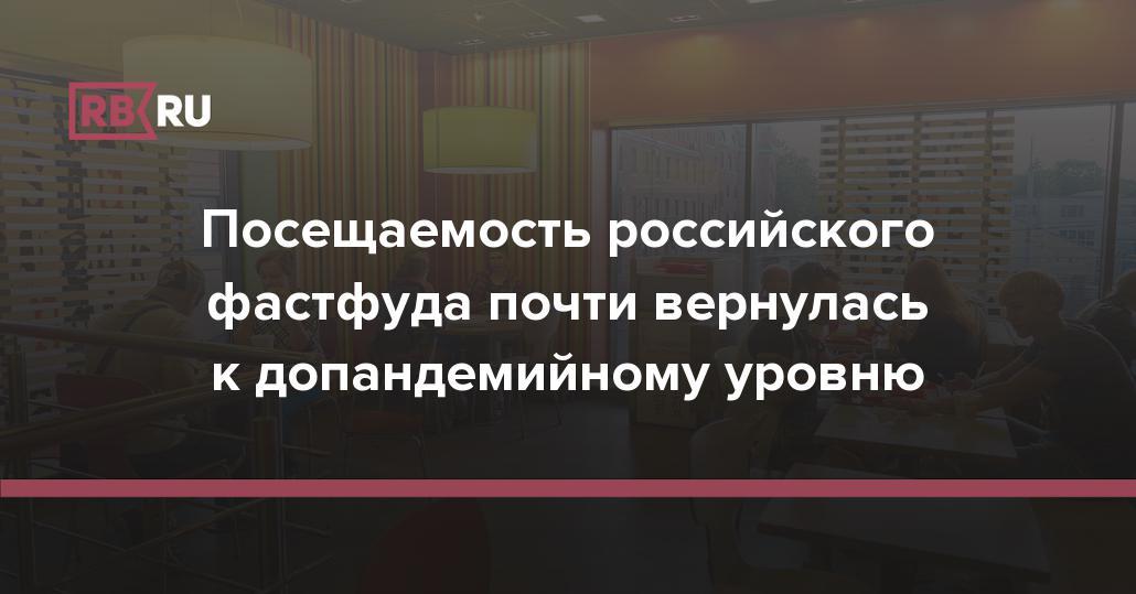 Посещаемость российского фастфуда почти вернулась к допандемийному уровню