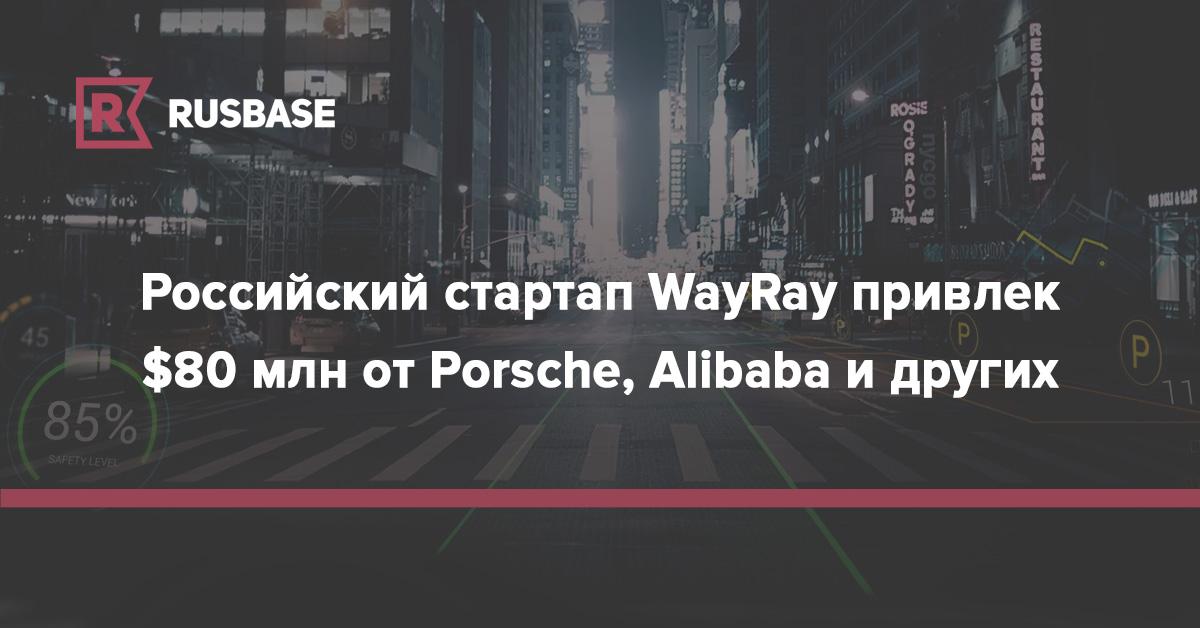 Российский стартап WayRay привлек $80 млн от Porsche, Alibaba и других   Rusbase