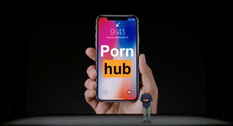 Pornhub рассказал о падении трафика из-за презентации iPhone X