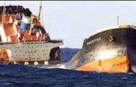 Шторм в Азовском море потопил танкер и два сухогруза
