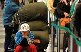 Четвертый день парализованы авиаперевозки в США. Фоторепортаж