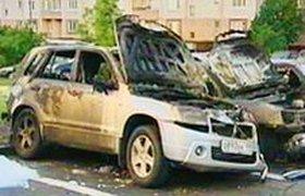 Массовый поджог автомобилей в Северном Бутово. Видео очевидца