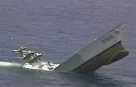 Австралийская подлодка потопила американский корабль. Видео