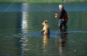 Мы с мишуткой рыбаки