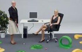 Мини гольф в офисе