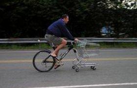 Велосипед для поездки в супермаркет