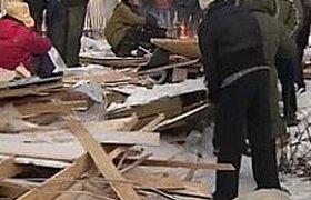 """В поселке """"Речник"""" на западе Москвы сносят дома жителей. Трое ранены"""