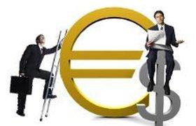 Евро толкнул доллар ниже 29 рублей