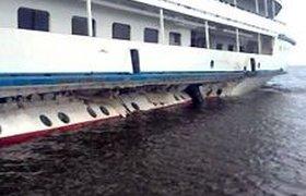 На Рыбинском водохранилище потерпел аварию теплоход с иностранными туристами. ВИДЕО