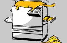 Карикатура на офисного кота
