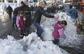 Ритейлеры США потеряли 1 млрд из-за снегопада