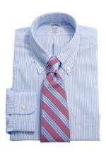 Налстук под бело-голубую рубашку в полоску