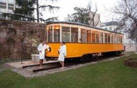 Итальянская сауна-трамвай
