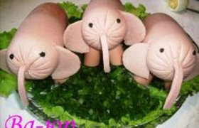 Креативное блюдо из обычных сосисок