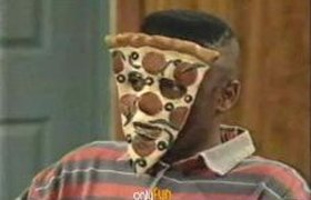 Пицца на лице