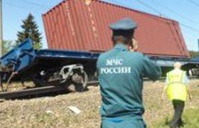 Столкновение двух поездов на юго-западе Подмосковья. ФОТО