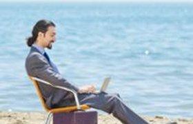 Японская web-компания превратила свой офис в пляж. ВИДЕО