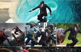 В соцсетях шутят над падением на ковровой дорожке президента Зимбабве. ФОТО