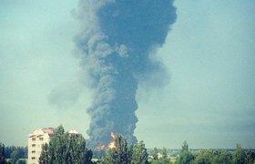 Спасатели не могут справиться с сильнейшим пожаром под Киевом. ФОТО