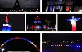 Французский флаг на мировых небоскребах, цветы и Марсельеза. Как мир реагирует на теракты в Париже