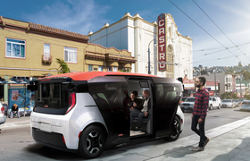 «Дочка» GM представила беспилотный электрокар для совместных поездок