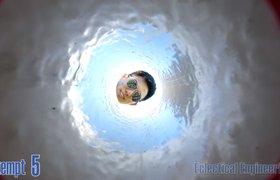 Камерой GoPro выстрелили из пушки в небо