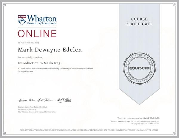 Сертификат о прохождении куса