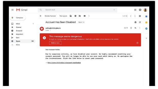 Google обновил дизайн исистему безопасности своего почтового сервиса
