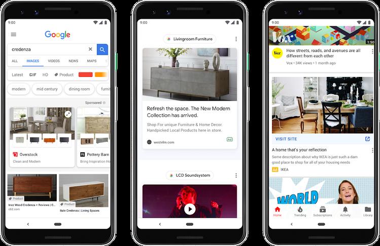 Google добавит рекламу на главной странице в мобильной версии