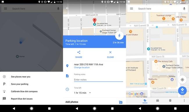 Google Maps научилось сохранять парковочное место