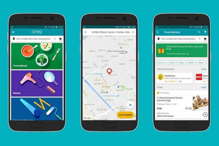Компания Google запустила универсальное приложение для заказа услуг иеды