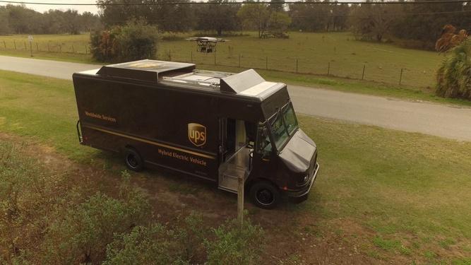 UPS протестировала дроны для доставки посылок