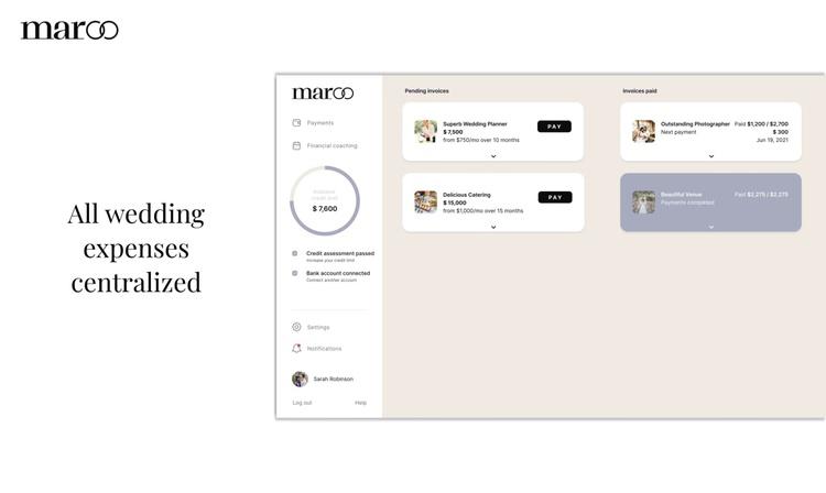 Интерфейс сервиса Maroo