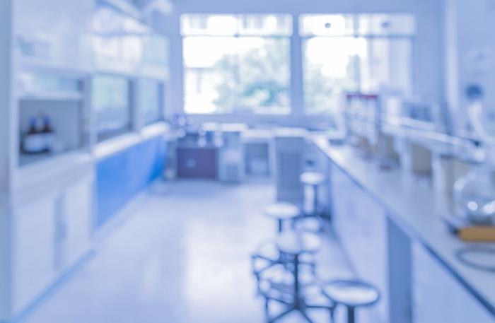 вид лаборатории, размытый снимок