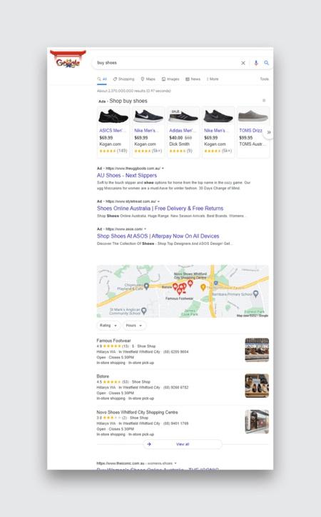 поиск в Google, реклама в поиске