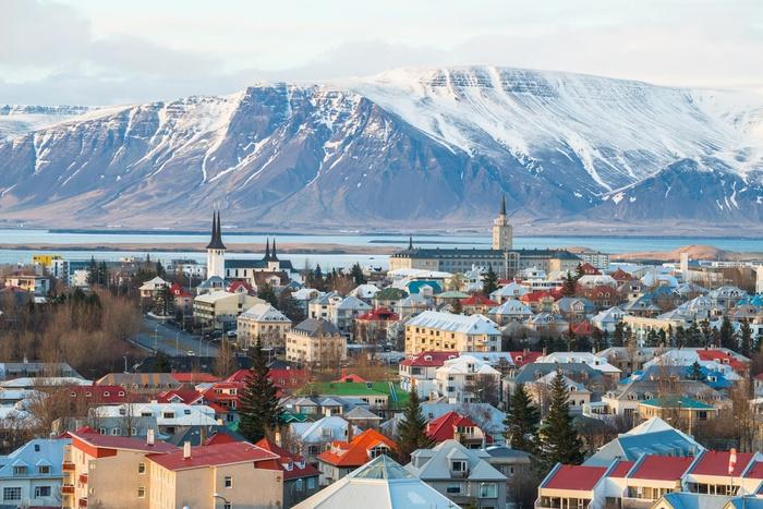 Исландия, ледник, город, Рейкьявик